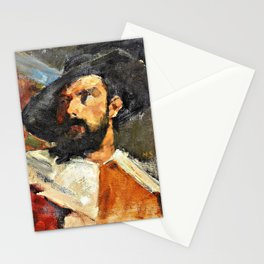 Portrait of a Man - Helene Sofia Schjerfbeck Stationery Cards