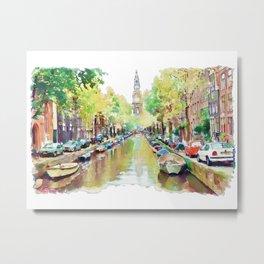 Amsterdam Canal 2 Metal Print