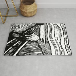 THE SCREAM - EDVARD MUNCH - LITHOGRAPH Rug