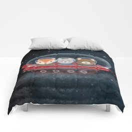 a little space adventure Comforters