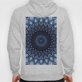 Dark and light blue mandala Hoody