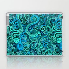 Boho Stylized Wave Pattern Laptop & iPad Skin