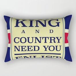 Your King and country need you Enlist. Rectangular Pillow