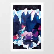 Crystal Gems Art Print
