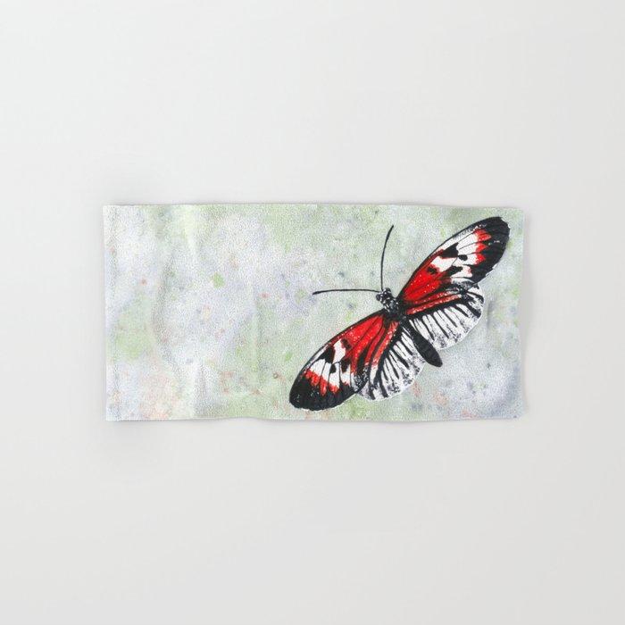 Piano key Butterfly (Heliconius melpomene) Hand & Bath Towel
