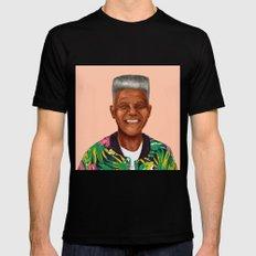 Hipstory - Nelson Mandela X-LARGE Black Mens Fitted Tee