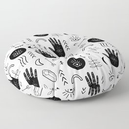 Witchy Patterns Floor Pillow