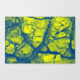 Abstract - in yellow & green Canvas Print