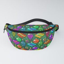 Tie Dye Holiday Ornaments Fanny Pack