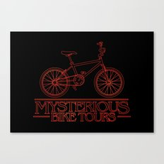Mysterious Bike Tours Canvas Print