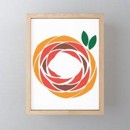 Fall Abstract Flower Framed Mini Art Print