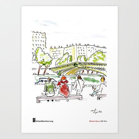"Nicolas Kern, ""Pont Mirabeau"" Art Print"