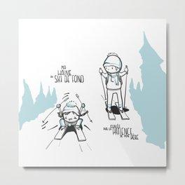 Souvenirs - Skiing Metal Print