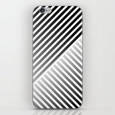Stripes In Black & White 2 iPhone & iPod Skin
