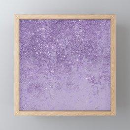 Modern elegant lavender lilac glitter marble Framed Mini Art Print