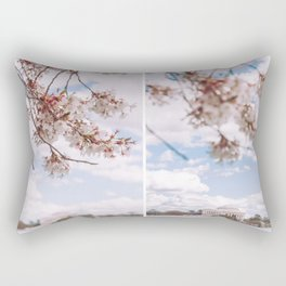 Washington DC Cherry Blossoms - Diptych Rectangular Pillow