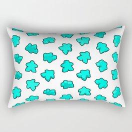 Meeple Mania Fresh Mint Rectangular Pillow