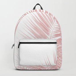 Blush Pink Palm Leaves Dream - Cali Summer Vibes #1 #tropical #decor #art #society6 Backpack