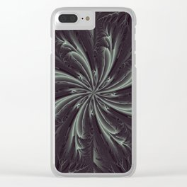Out of the Darkness Fractal Bloom Clear iPhone Case