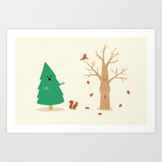 Cold And Naked Art Print