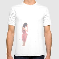 candid White Mens Fitted Tee MEDIUM