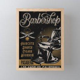 Gentlemen's Barber Shop LA Framed Mini Art Print