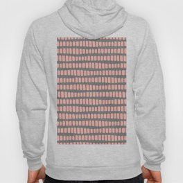 Dusty rose gold waves on grey charcoal faux glitter pattern Hoody