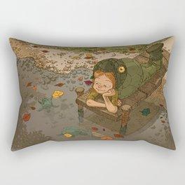 La rivière aux tortues Rectangular Pillow
