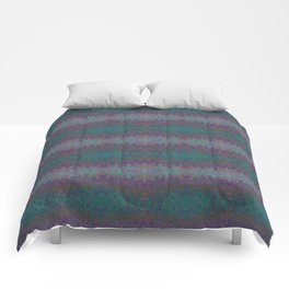 Green and Purple Abstract Watercolor Comforters