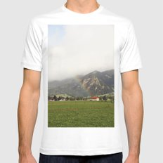 Rainbow in the Valley MEDIUM Mens Fitted Tee White