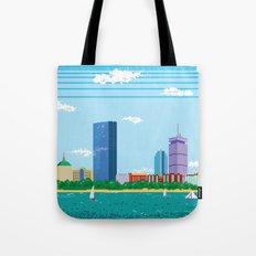 Pixel Boston Skyline Tote Bag