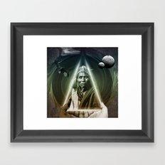 Dark Bubbles Framed Art Print