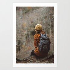 Here Waiting Art Print