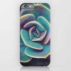 Purple & Blue Succulent iPhone 6s Slim Case