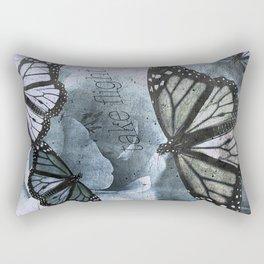 take flight blue Rectangular Pillow