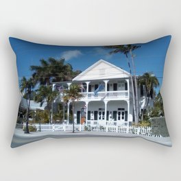 White house, Key west. Rectangular Pillow