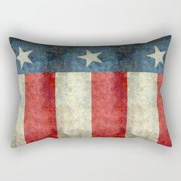 Texas flag, Retro style Vertical Banner Rectangular Pillow
