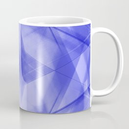 Vintage triangular strokes of intersecting sharp lines with indigo triangles and a star. Coffee Mug