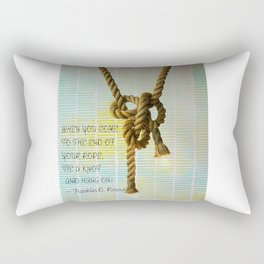 Tie a Knot and hang on Rectangular Pillow