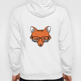 Smart Fox With Glasses Fox Lover Gift Hoody