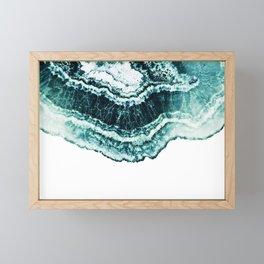 Turquoise half cut marble art Framed Mini Art Print
