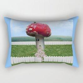 Mushroom House Rectangular Pillow