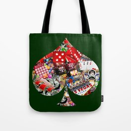 Spade Playing Card Shape - Las Vegas Icons Tote Bag