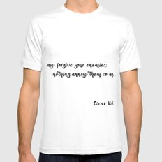 Oscar Wilde - Quotes MEDIUM White Mens Fitted Tee