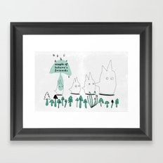 Couple of TOTORO's Friends Framed Art Print