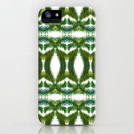 Palm Leaf Kaleidoscope (on white) #2 iPhone Case