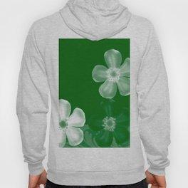 Retro 70s Flowers Green Hoody