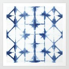 Shibori Diamonds Art Print