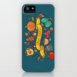 Autumn Is The Time To Stay Cozy iPhone Case