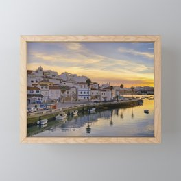Ferragudo at sunset, Portugal Framed Mini Art Print